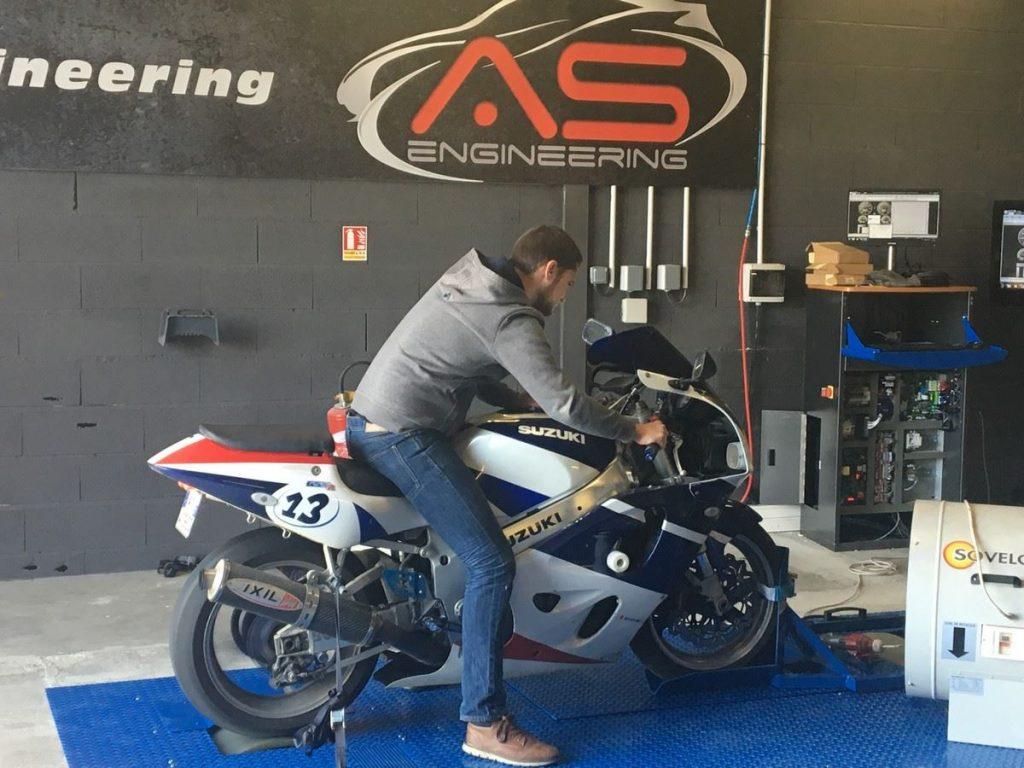 Auto Sport engineering banc de puissance moto